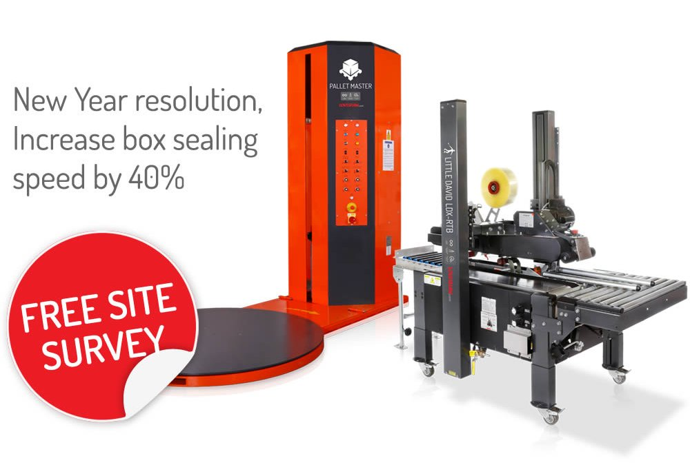 New Year resolution, Increase box sealing  speed by 40%, Free Site Survey